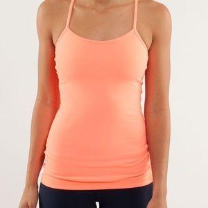 Lululemon neon orange tank top